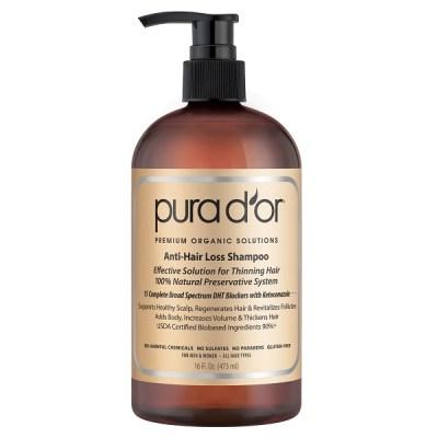 1. PURA D'OR Premium Organic Anti-Hair Loss Shampoo
