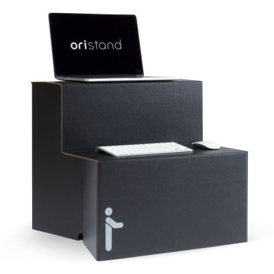 8 Oristand Standing Desk Converter - Portable Stand Up Desk Workstation for Laptop and Computer Monitor - Best Value Sit Stand Desks Around