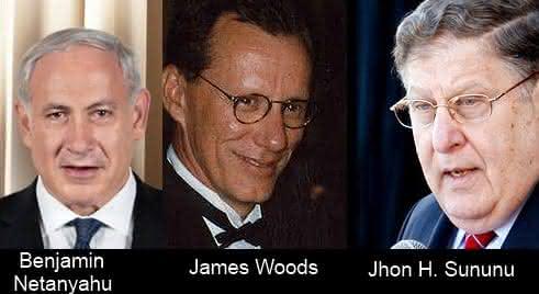 Benjamin netanyahu - James Woods -  Jhon H Sununu entre os mais inteligentes