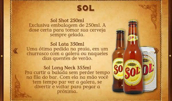 sol uma das cervejas mais consumida do brasil