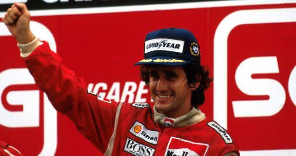 Alain Prost entre os melhores pilotos de formula 1