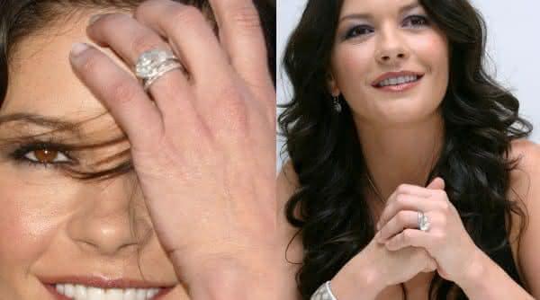 Catherine Zeta-Jones aliancas de noivados mais caros