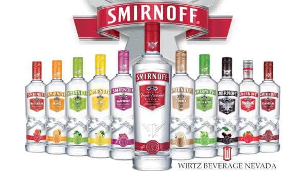 smirnoff entre as vodkas mais consumidas no mundo