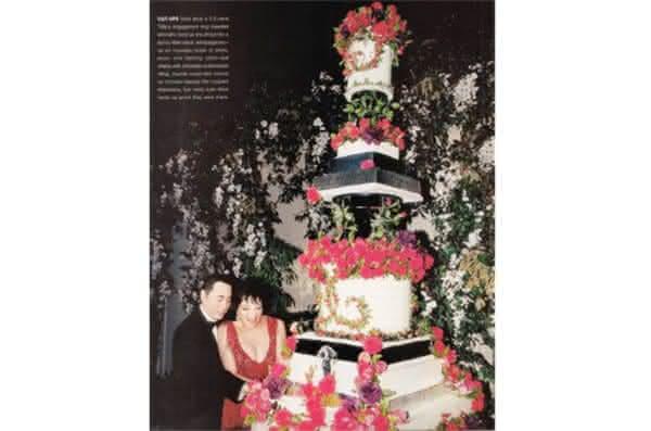 bolo de Liza Minnelli and David Gest