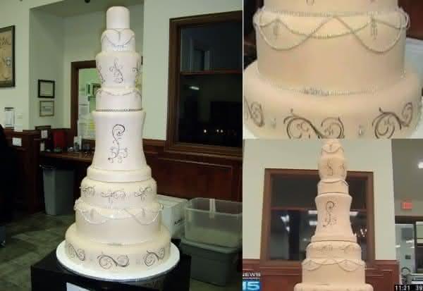 bolo de um  milhao de dolares Dallas Bridal Fair