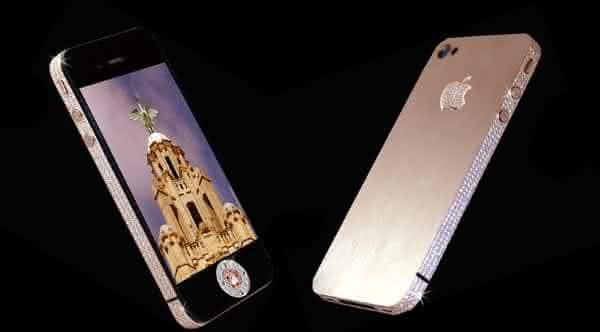 iPhone 4 Diamond Rose Edition celular mais caro