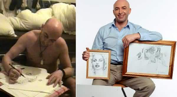sonambulo faz obra de arte