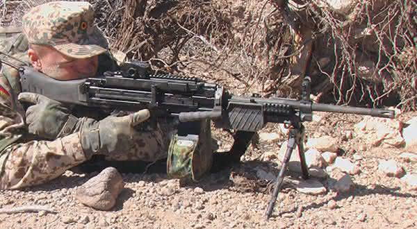 arma Heckler Koch HK MG4 MG 43 Machine Gun