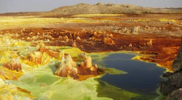 calor em Dallol Ethiopia