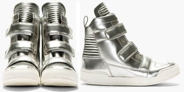 Balmain High Top Double Strap tenis entre os mais caros do mundo