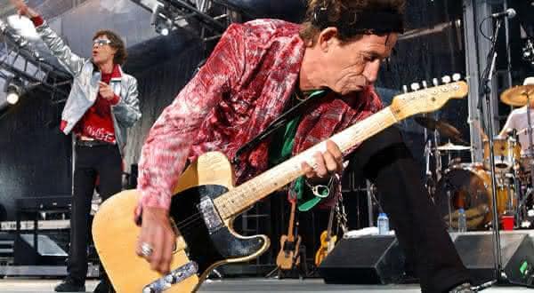 Keith Richards um dos maiores guitarristas de todos os tempos