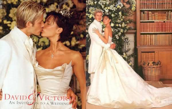 david e victoria beckham entre os vestidos de noiva mais caros do mundo