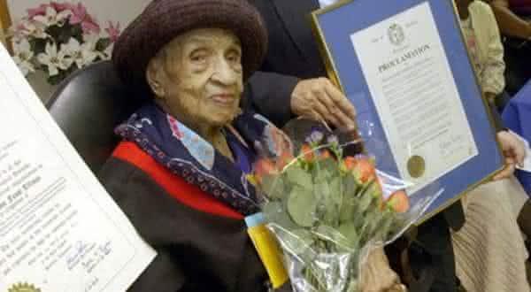 Elizabeth Bolden entre as pessoas que viveram por mais tempo na história