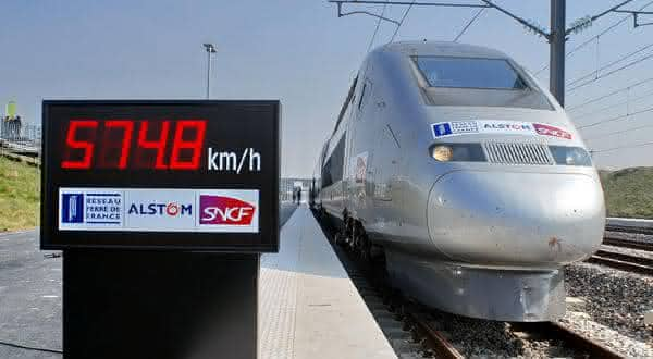 TGV V150 entre os trens mais rapidos do mundo