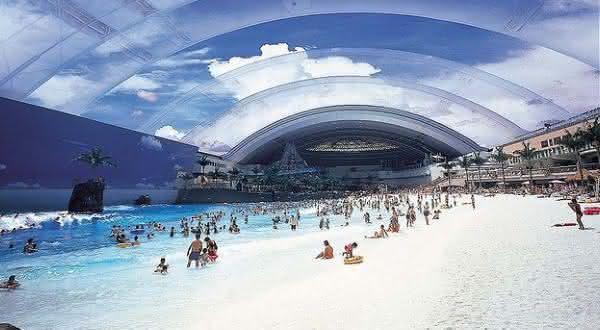 Seagaia Ocean Dome entre as maiores piscinas do mundo