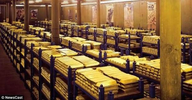 estados unidos entre os paises com as maiores reservas de ouro do mundo