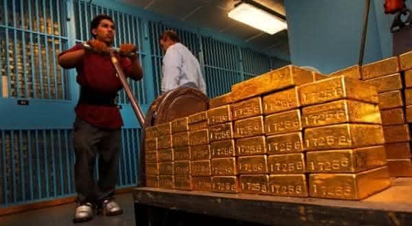 india entre os paises com as maiores reservas de ouro do mundo