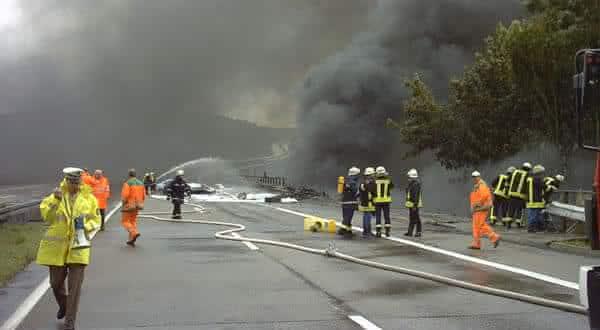 explosao caminhao tanque Wiehltal entre os acidentes mais caros da historia