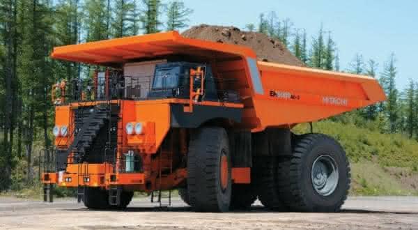 Hitachi EH50000AC-3 entre os maiores caminhoes de cacamba do mundo