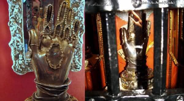Mao de Santa Teresa de avila entre as relíquias mais misteriosas do mundo