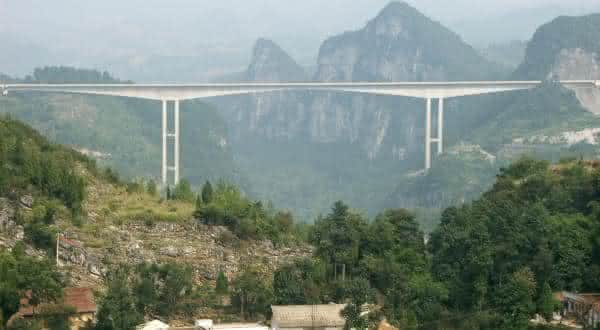 Ponte Liuguanghe entre as pontes mais altas do mundo