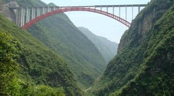 Ponte do Rio Zhijinghe entre as pontes mais altas do mundo