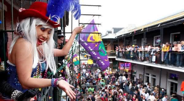 Mardi Gras entre as festas mais populares do mundo