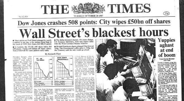 black monday entre as maiores crises financeiras de todos os tempos
