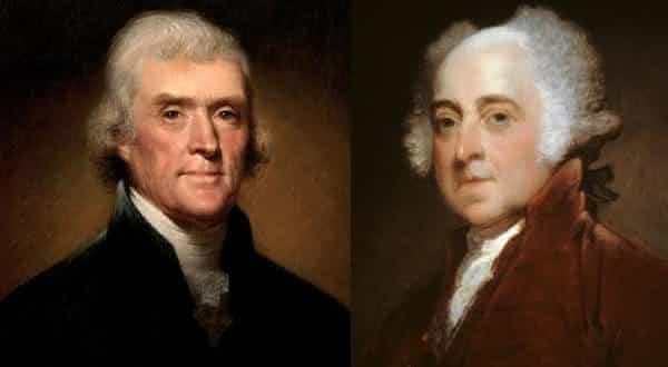 Thomas Jefferson e John Adams  entre as mais chocantes coincidencias sem explicacao