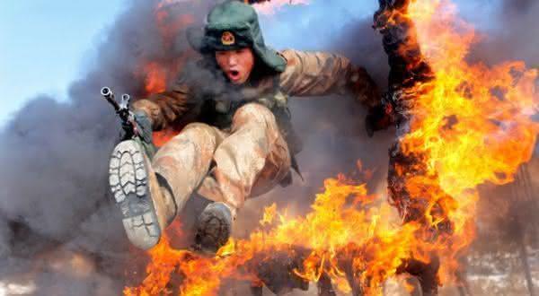 circulo de fogo entre os exercicios militares extremos