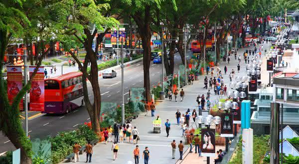 Orchard Road entre as ruas mais famosas do mundo