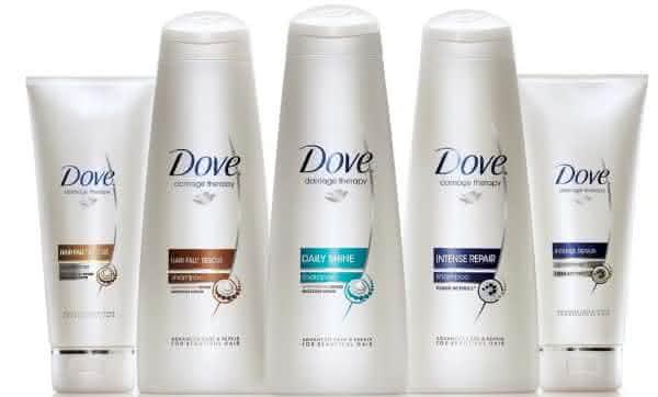 shampoo dove entre as marcas de shampoo mais vendidas do mundo