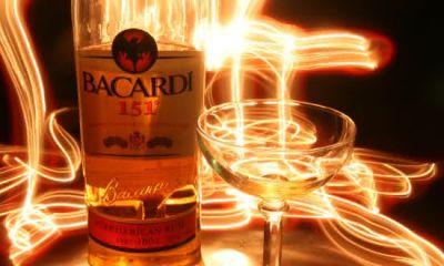Bacardi 151 entre as bebidas alcoolicas mais fortes do mundo