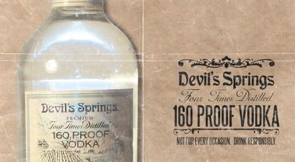 Devil Springs Vodka  entre as bebidas alcoolicas mais fortes do mundo