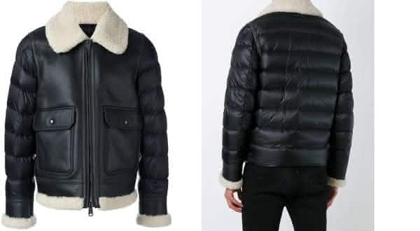 Moncler Padded Sleeve Shearling entre as jaquetas mais caras do mundo