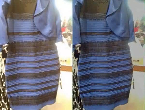 vestido azul entre as ilusões de óptica que te deixarão confuso