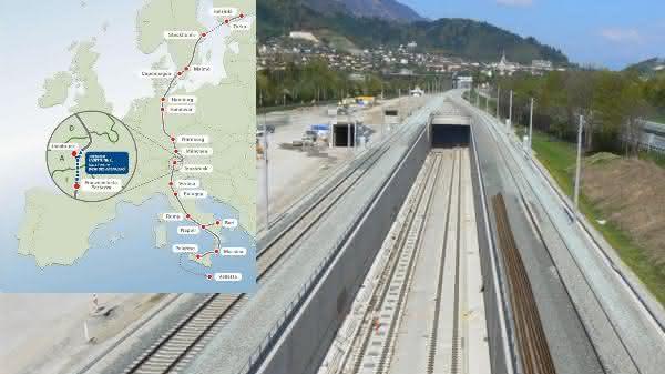 Brenner Base Tunnel entre os tuneis ferroviarios mais longos do mundo