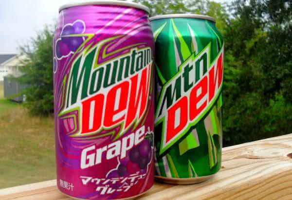 Mountain Dew entre os refrigerantes mais vendidos no mundo