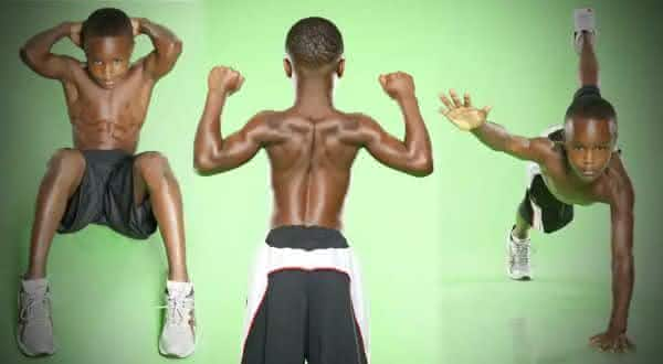 CJ Senter entre as crianças mais fortes do mundo
