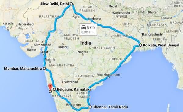 Golden Quadrilateral Highway Network entre as estradas mais longas do mundo