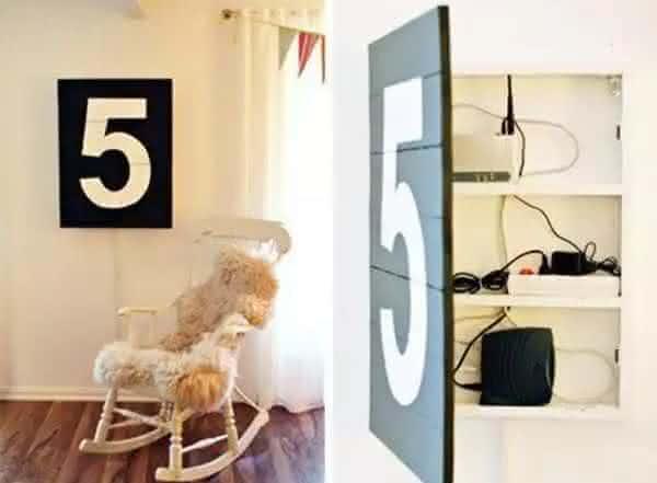 atras de uma arte entre os lugares seguros para esconder objetos de valor em sua casa
