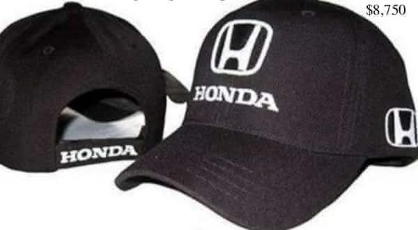 honda entre os chapeus mais caros do mundo