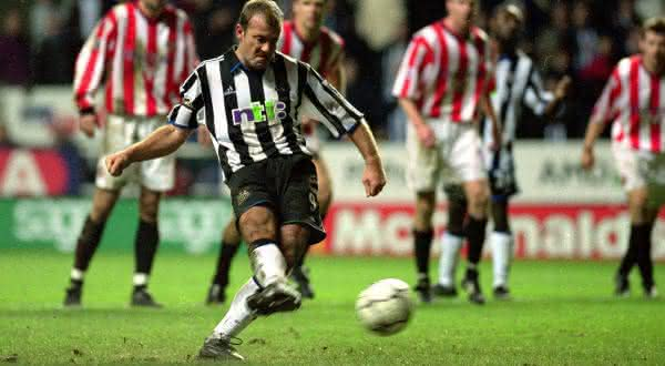 Alan Shearer entre os melhores cobradores de penaltis de todos os tempos