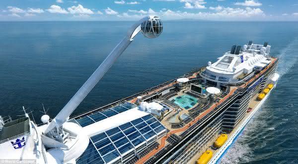 Top 10 navios de cruzeiros mais caros de todos os tempos
