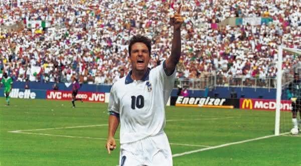 Roberto Baggio entre os maiores meia-atacantes da historia do futebol