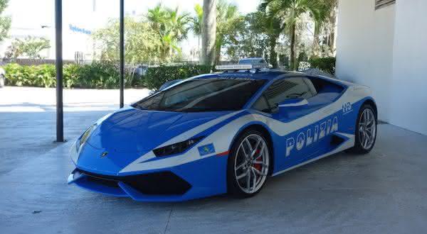 Lamborghini Huracan entre os carros de policia mais caros do mundo