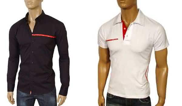prada entre as marcas de camisas masculinas mais vendidas do mundo
