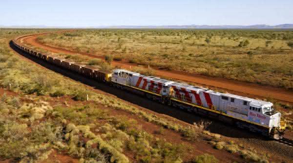 Rio Tinto entre os trens mais longos do mundo