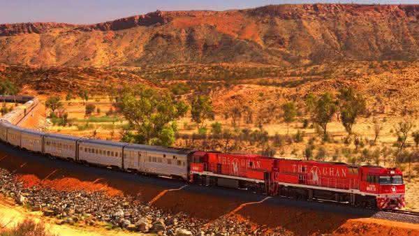 The Ghan entre os trens mais longos do mundo