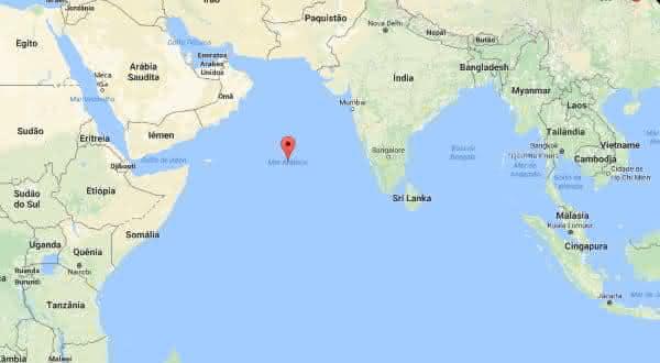 mar arabico entre os maiores mares do mundo